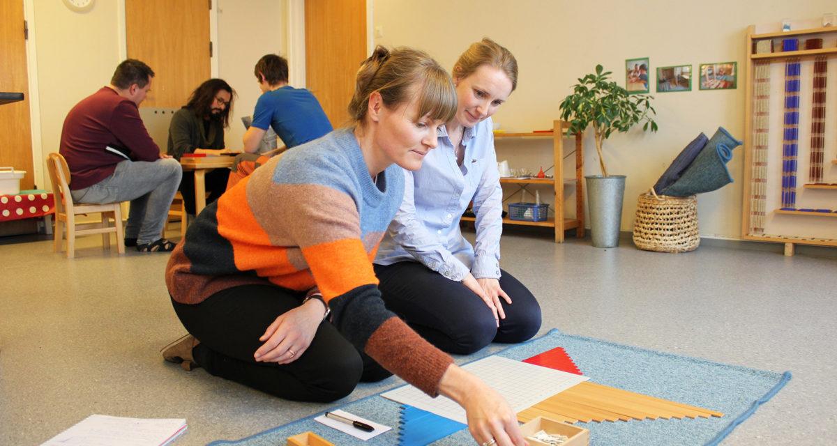 Montessoristudenter på Hamar