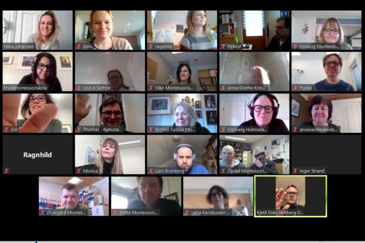 Digitalt møte med medlemmer